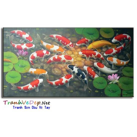 Đàn Cá Trong Ao Sen CN010