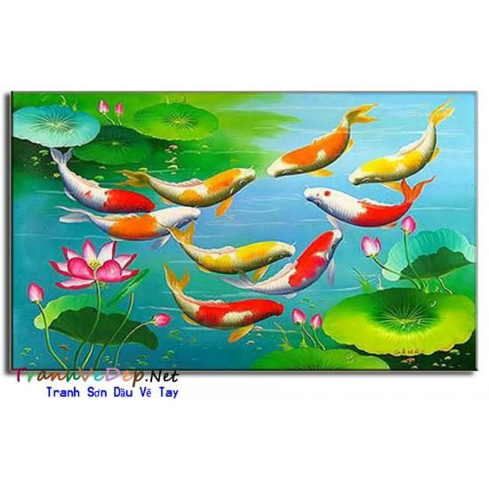 Cá Chép Trong Ao Sen CN017