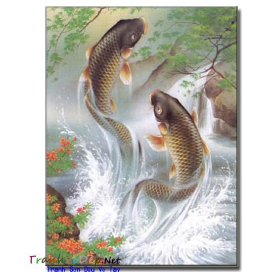 Tranh Vẽ Cá Chép C18