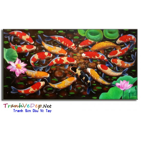 Đàn Cá Trong Ao Sen CN020