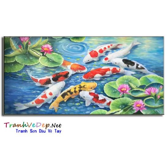 Cá Chép Trong Ao Sen CN004