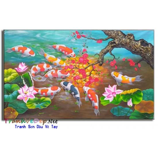 Cá Chép Dưới Bóng Hoa Đào CNQH05