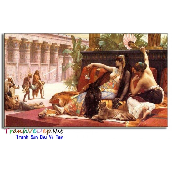 Tranh Sơn Dầu Cổ Điển Nữ Hoàng Ai Cập CD44