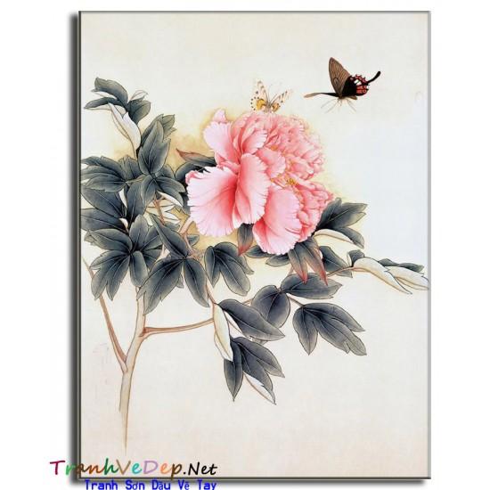 Tranh Vẽ Hoa Mẫu Đơn HMD04