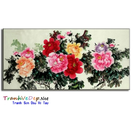 Tranh Vẽ Hoa Mẫu Đơn HMD00