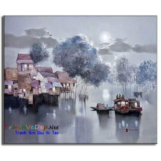 Tranh Sơn Dầu Họa Sĩ Đặng Can DC06