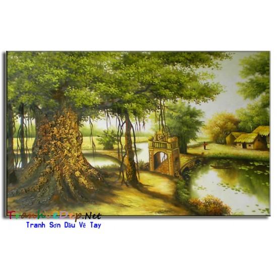 Tranh sơn Dầu Đồng Quê Việt Nam V15