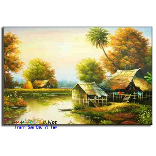 Tranh Làng Quê Việt Nam V02
