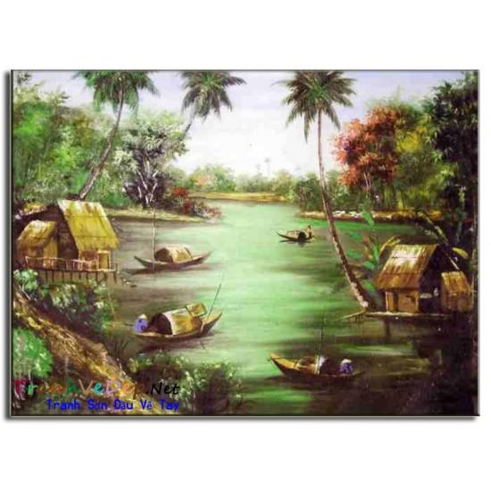 Tranh Làng Quê Việt Nam V03