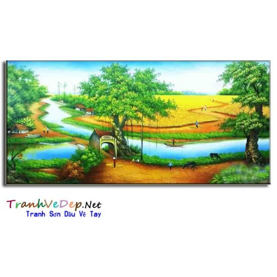 Tranh Đồng Quê Việt Nam V33