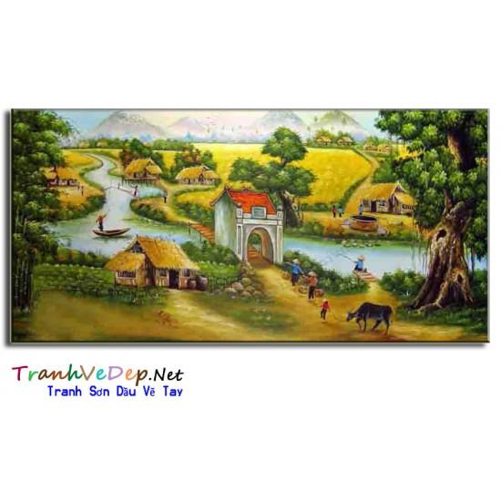 Tranh Đồng Quê Việt Nam V34