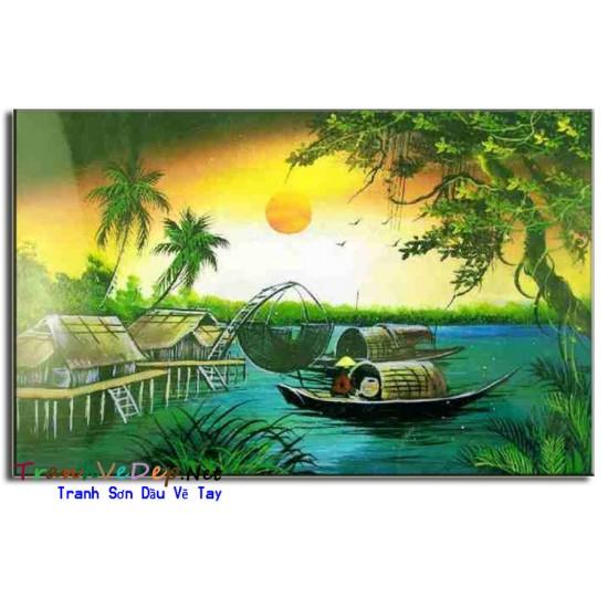 Tranh Làng Quê Việt Nam V04