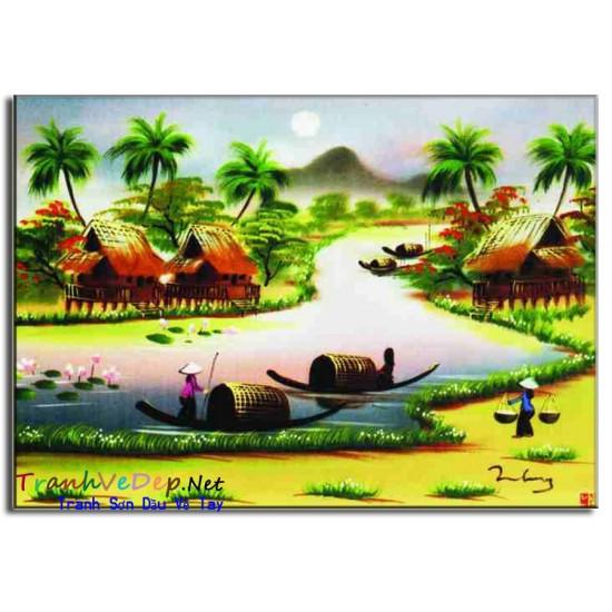 Tranh Làng Quê Việt Nam V06