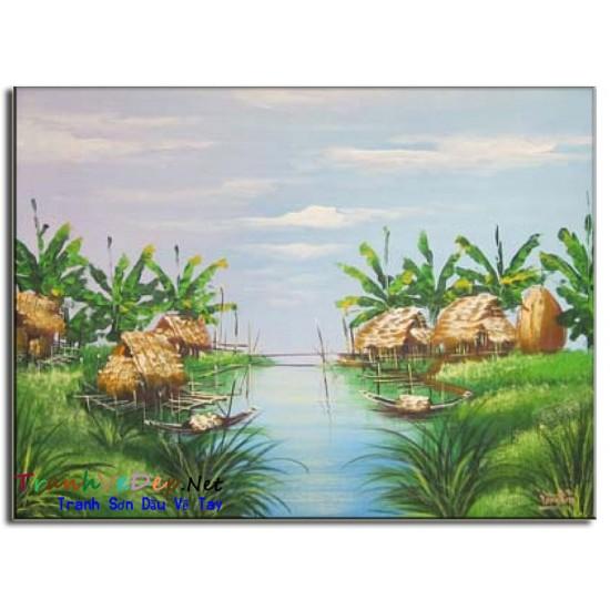 Tranh Làng Quê Việt Nam V07