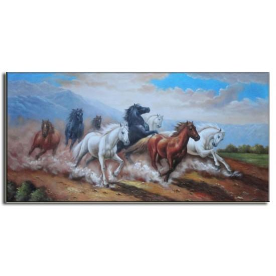 Tranh Sơn Dầu Vẽ Ngựa N02