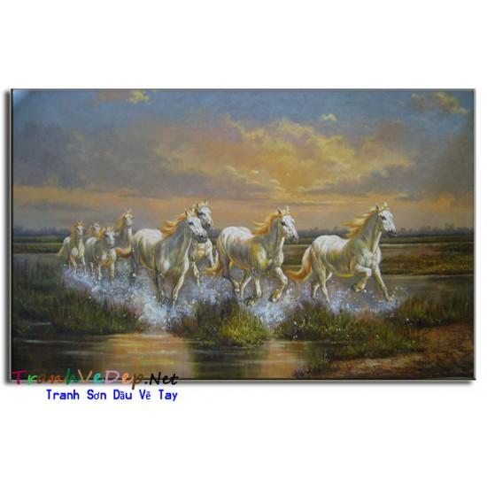 Tranh Sơn Dầu Vẽ Ngựa N05
