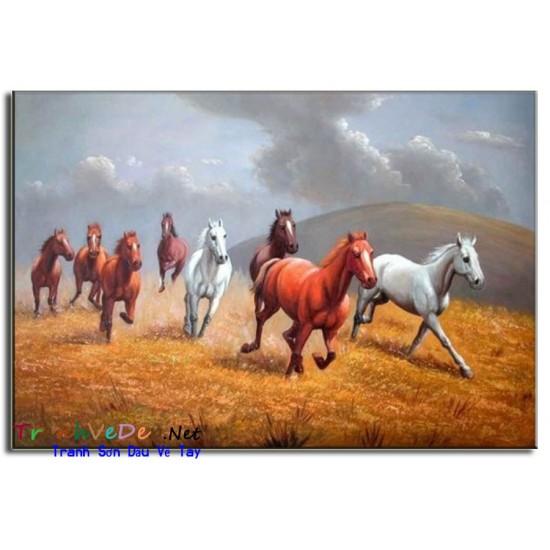 Tranh Sơn Dầu Vẽ Ngựa N07