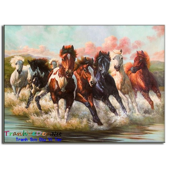 Tranh Sơn Dầu Vẽ Ngựa N09
