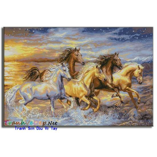 Tranh Sơn Dầu Vẽ Ngựa N13