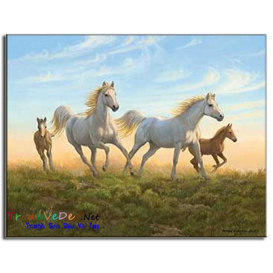 Tranh Sơn Dầu Vẽ Ngựa N14
