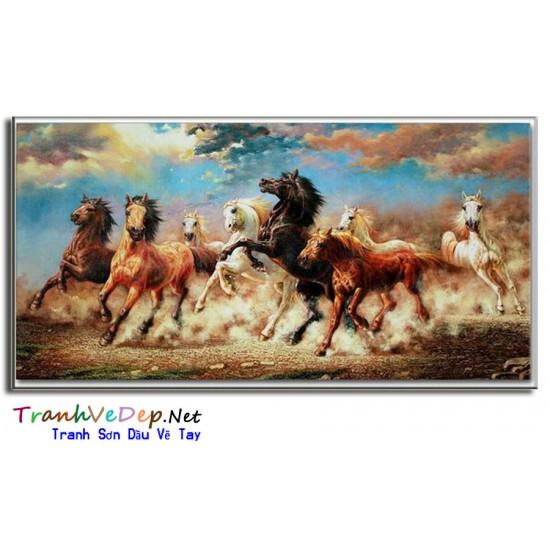 Tranh Sơn Dầu Vẽ Ngựa N15