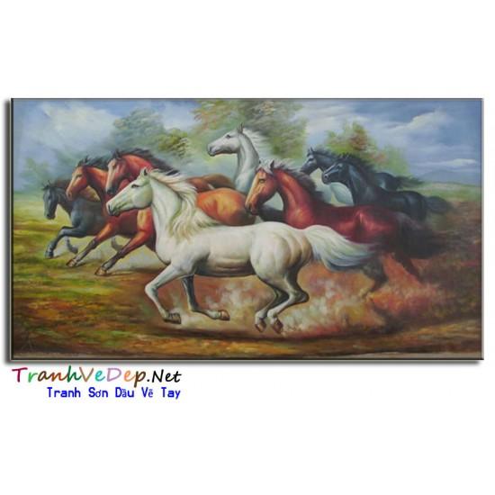 Tranh Sơn Dầu Vẽ Ngựa N16