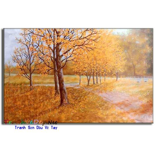 Tranh Sơn Dầu Phong Cảnh Mùa Thu M30