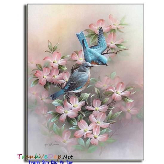 Tranh Tĩnh Vật Vẽ Hoa Đẹp TVH002