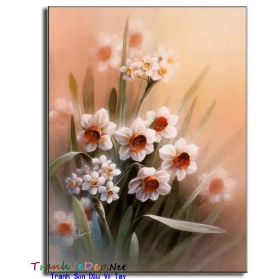 Tranh Tĩnh Vật Vẽ Hoa Đẹp TVH008