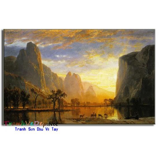 Tranh Sơn Dầu phong cảnh Cổ Điển PC25