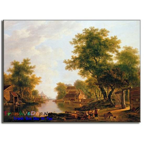 Tranh Sơn Dầu phong cảnh Cổ Điển PC32