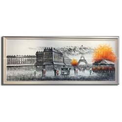 Tranh sơn dầu hiện đại Phố Paris PR014