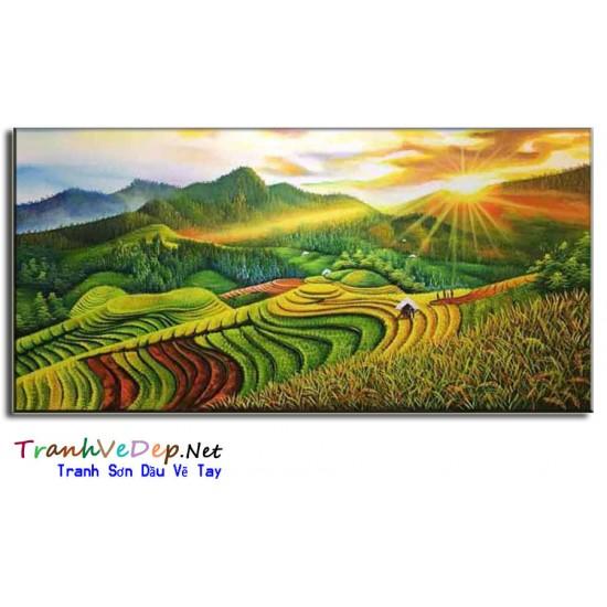 Tranh Phong Cảnh Ruộng Bậc Thang Việt Nam