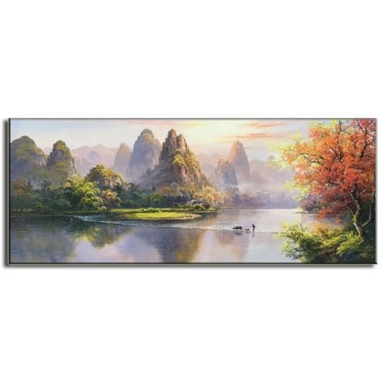 Tranh Sơn Dầu Vẽ Cảnh Thiên Nhiên Đẹp C12