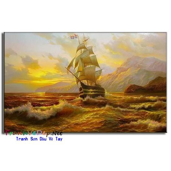 Tranh Thuận Buồm Xuôi Gió Thủy Triều Đỏ